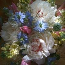 weeding flowers